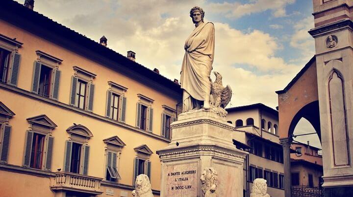 Statue of Dante in Italy